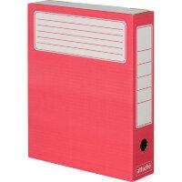 Короб архивный Attache микрогофрокартон красный 326х252х80 мм (5 штук упаковка)