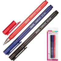 Набор гелевых ручек Attache Complete 3 цвета толщина линии 0.5 мм 3 штуки в упаковке