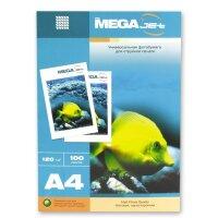 Фотобумага для цветной струйной печати MEGA Jet (матовая  А4  120 г/кв.м  100 листов)