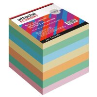 Блок для записей Attache Economy 75x75x75 мм разноцветный плотность 65 г/кв.м