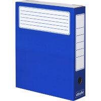 Короб архивный Attache микрогофрокартон синий 326х252х80 мм (5 штук упаковка)