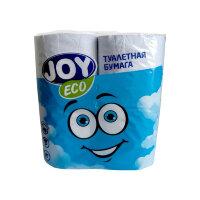 Бумага туалетная Joy Eco 2-слойная белая 4 рулона в упаковке