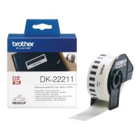 Картридж для принтера этикеток Brother DK-22211 29 мм x 15 м цвет ленты белый шрифт черный