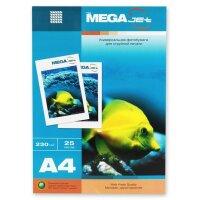 Фотобумага для цветной струйной печати MEGA Jet (матовая  А4  230 г/кв.м  25 листов)