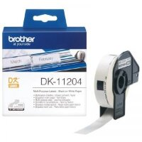 Картридж для принтера этикеток Brother DK11204 (17 мм x 54 мм, цвет ленты белый, шрифт черный)