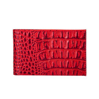 Визитница карманная Fabula на 40 визиток из натуральной кожи красного цвета V.30.KM