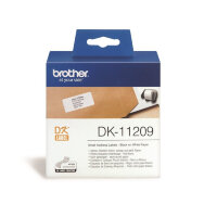 Картридж для принтера этикеток Brother DK11209 62 мм цвет ленты белый шрифт черный