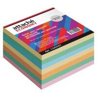 Блок для записей Attache Economy 80x80x40 мм разноцветный плотность 65 г/кв.м