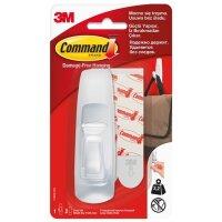 Крючок Command белый нагрузка до 2.25 кг (1 штука + 2 клейких полоски)