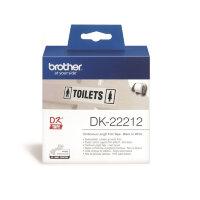Картридж для принтера этикеток Brother DK22212 62 мм x 15 м цвет ленты белый шрифт черный