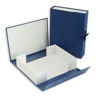 Короб архивный А4 бумвинил синий (нескладной 7 см 2 завязки)