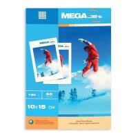 Фотобумага для цветной струйной печати MEGA Jet Photo (глянцевая  10х15  190 г/кв.м  50 листов)