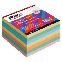 Блок для записей Attache Economy 80x80x40 мм разноцветный проклеенный плотность 65 г/кв.м
