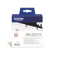 Картридж для принтера этикеток Brother DK22214 12 мм x 30 м цвет ленты белый шрифт черный
