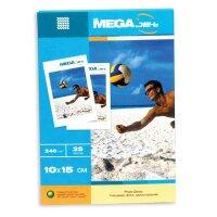 Фотобумага для цветной струйной печати MEGA Jet Photo (глянцевая  10х15  240 г/кв.м  25 листов)