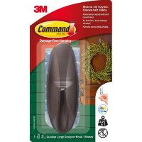 Крючок Command бронзовый нагрузка до 2.2 кг (1 штука + 2 клейких полоски)