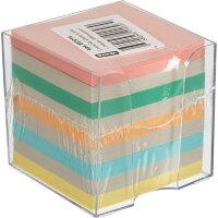 Блок для записей Attache 90x90x90 мм цветной в боксе плотность 60 г/кв.м