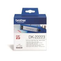 Картридж для принтера этикеток Brother DK22223 50 мм x 30 м цвет ленты белый шрифт черный
