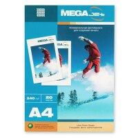 Фотобумага для цветной струйной печати MEGA Jet Photo (глянцевая  А4  240 г/кв.м  20 листов)