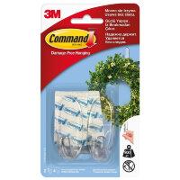 Крючок Command прозрачный нагрузка до 0.9 кг (2 штуки + 4 клейких полоски)