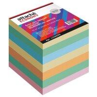 Блок для записей Attache Economy 80x80x80 мм разноцветный плотность 65 г/кв.м