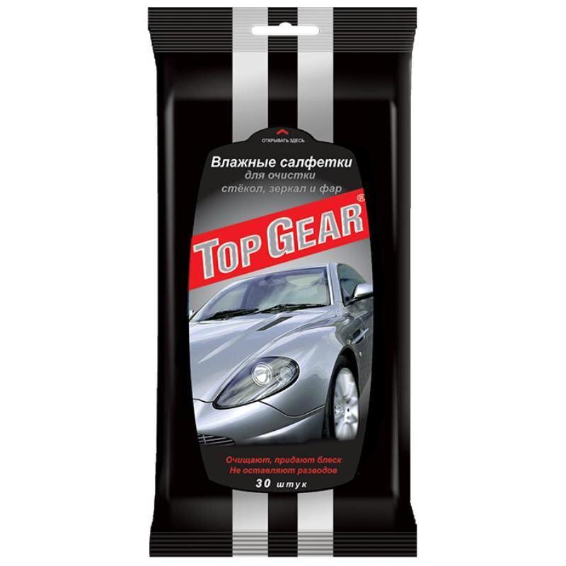 Салфетки влажные для стекол Top Gear 30 штук в упаковке