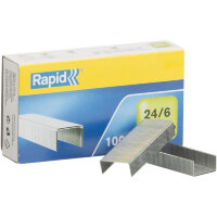 Скобы для степлера N24/6 Rapid оцинкованные 1000 штук в упаковке