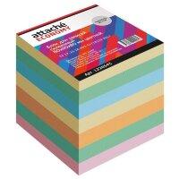 Блок для записей Attache Economy 80x80x80 мм разноцветный проклеенный плотность 65 г/кв.м