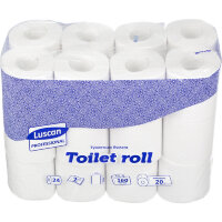 Бумага туалетная Luscan Professional 2-слойная белая 24 рулона в упаковке