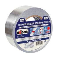 Клейкая лента алюминиевая Unibob серая 75 мм x 50 м толщина 70 мкм