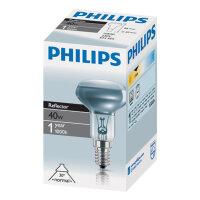 Лампа накаливания Philips 40 Вт E14 2700k теплый белый грибовидная