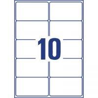 Этикетки самоклеящиеся Avery Zweckform адресные белые 99.1х57 мм 10 штук на листе A4 100 листов