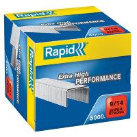 Скобы для степлера N9/14 Rapid Super Strong оцинкованные (5000 штук в упаковке)