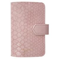 Визитница карманная InFolio Animalistic на 24 визитки из искусственной кожи розовая