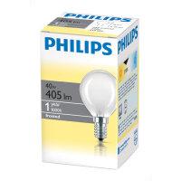 Лампа накаливания Philips 40 Вт E14 2700k теплый белый сфера