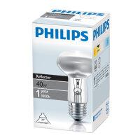 Лампа накаливания Philips 40 Вт E27 2700k теплый белый грибовидная