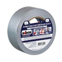 Клейкая лента армированная серая Unibob серая 48 мм х 40 м толщина 50 мкм