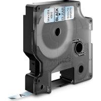 Картридж для принтера этикеток DYMO D1 6 мм x 7 м цвет ленты прозрачный шрифт черный