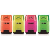 Ластик -точилка Milan Compact Fluo
