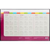 Коврик на стол Attache 380x590 мм с календарем на 3 года черный с прозрачным верхним листом