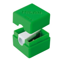 Точилка Milan CUBIC с контейнером 1 отверстие