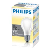 Лампа накаливания Philips 60 Вт E27 2700k теплый белый грушевидная