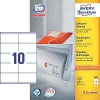 Этикетки самоклеящиеся Avery Zweckform белые 105х57 мм 10 штук на листе A4 100 листов