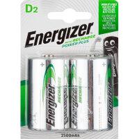 Аккумулятор D 2500 мАч Energizer Power Plus 2 штуки в упаковке Ni-Mh