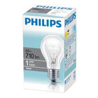Лампа накаливания Philips 60 Вт E27 2700k теплый белый шаровидная