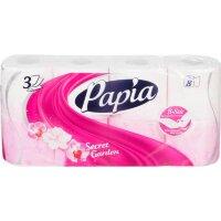 Бумага туалетная Papia Secret Garden 3-слойная белая с цветочным ароматом 8 рулонов в упаковке