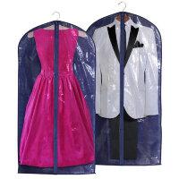Чехол для одежды синий 125x60 см 5522