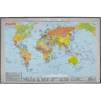 Коврик на стол Attache Карта мира (380х590 мм цветной ПВХ)
