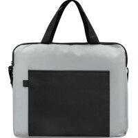 Конференц-сумка для документов Congress полиэстер/микрофибра серая/черная (34x6x29 см)