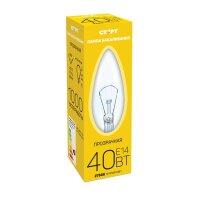 Лампа накаливания Старт 40 Вт E14 2750k теплый белый свеча